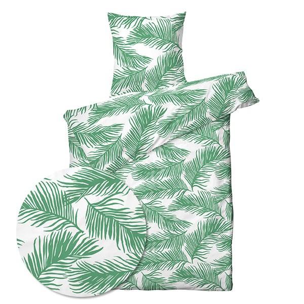 Ultramoderne Sengetøj - Palm leaves grøn - 140x220 - Køb sengetøj her HE-23