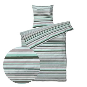 Sengetøj Stripe Dust 140x200 - Nordic Home